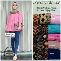 TERBARU Baju Atasan Muslim Blouse Muslim Janaty Blouse Wanita Modern