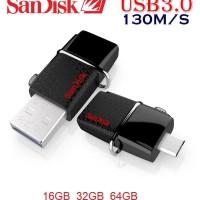 BEST PRODUK FD Flashdisk Sandisk 64GB Dual Drive OTG USB 3 0 BSE1210