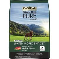 Dog Food Canidae Pure Land Grain Free Bison 4 lb