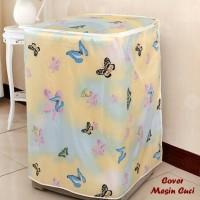 cover/sarung mesin cuci 1 tabung bukaan atas (bahan satin tebal)