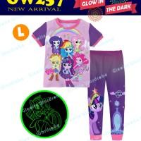 Piyama Gw 257 L Size Besar Motif Pony Ungu Glow I The Dark Murah