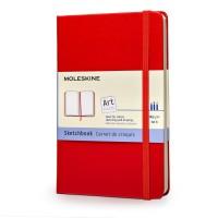 moleskine art sketchbook red pocket 9788862930307