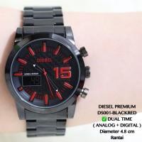 pusat jam tangan pria rantai hitam fossil ripcurl seiko diesel adidas