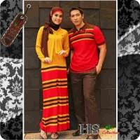 ( Sumber Grosir  ) Gamis Aisha Couple Bahan Rajut Halus Fit To L