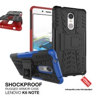 Armor Case Lenovo K6 Note / Plus Shockproof Hybrid Hard & Soft Casing