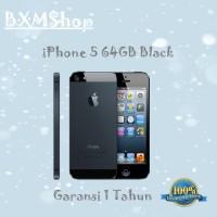 APPLE IPHONE 5-64 GB BLACK GARANSI 1 THN