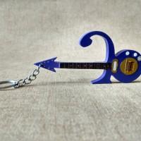 Gantungan Kunci Gitar Purple Rain Symbol Prince Model