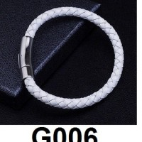 Gelang Bangle Titanium Simple Putih G006