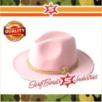 Topi Koboi Texas Indian Cowboy Merah Pink International