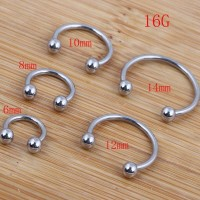 Circular barbells piercing anting tindik barbel