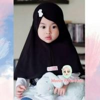 Jual Jilbab Instan anak Monia Jilbab bayi Laika size S warna Hitam TERLARIS Murah