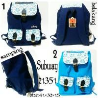 tas ransel wanita subway 21351 backpack subway original terbaru dan te
