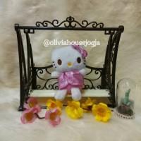 Gantungan Kunci Hello Kitty Gaun Pink Blink-Blink