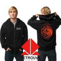 Hoodie Zipper Game Of Thrones House Targaryen Valyria