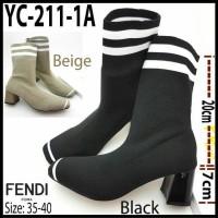 Sepatu Fendi Boots Syahrini YC221-1A Hak Tahu 7cm