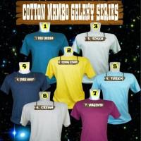 Jual KAOS POLOS KATUN /COTTON COMBED GALAXY POLKA MAMBO (14 pilihan warna) Murah