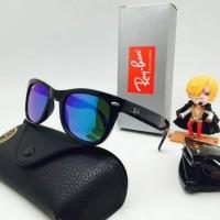 Kacamata Rayban Wayfarer Folding Black Blue Kacamata UV Protection
