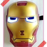 Jual topeng mainan anak karakter ironman dengan baterai Murah