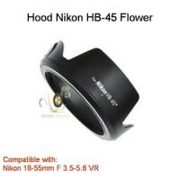 Lens Hood HB-45 Flower Model for Nikon 18-55mm F 3.5-5.6 VR