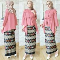model baju muslim gamis terbaru dan modern STELAN KEBAYA MASAYU