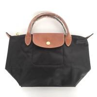 Authentic Longchamp Le Pliage Classic Small short Handle - Black