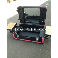 beauty case koper makeup make up mua led lampu custom box kotak
