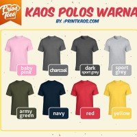 Jual Kaos Polos WARNA Cotton Combed 30s MURAH! by printkaos.com Murah