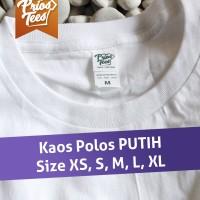 Jual Kaos Polos PUTIH Cotton Combed 30s MURAH! by printkaos.com Murah
