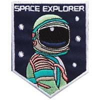 Iron Patch SPACE EXPROLER (Emblem) Ukuran L: 7cm , T: 9cm BIG !
