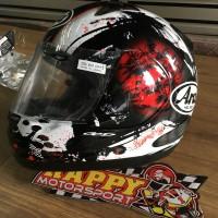 Helm Arai full face Red Dragon Snell Astro original Japan size L
