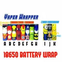 Jual 18650 Battery Wrap Sleeve Superheroes Edition | Batere | Batre Murah