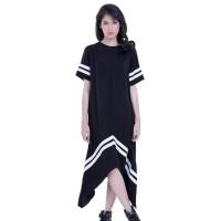 Dress Wanita / Dress Female White Line - H 3225