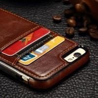 Iphone 6 6S Wallet Case Luxury Leather casing cover bumper armor keren