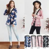 Luaran, Cardigan, Atasan Wanita, Zara Birdy Kimono