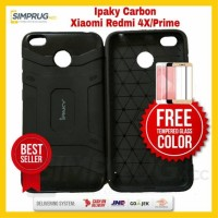 PAKET Case HP Xiaomi Redmi 4X Carbon Fiber Softcase Jelly Karbon Cover