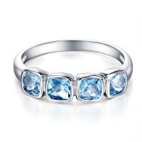 Tiaria 9k Queen Blue Topaz Ring Gold Gemstone Perhiasan Cincin Emas