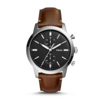 Jam Tangan Pria Fossil Townsman Chronograph Brown Watch FS5280