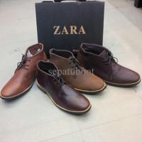 sepatu boots zara man original leather kualitas PREMIUM boots terbaru