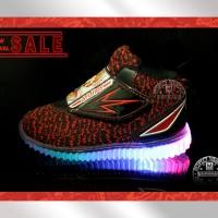 Sepatu Lampu Anak ARDILES NEO - Hitam - Merah 26-31