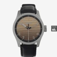 ORIGINAL Nixon Watch Jam Safari Wood Silver