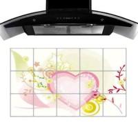STICKER DAPUR/ STIKER DAPUR 45X75-TL224-PINK HEART