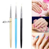 Metal Painting Brush Set nail art gel dan liner ujung tipis lancip