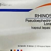 rhinos sr/rhinos sr obat flu atau pilek/strip isi 10
