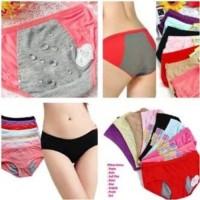 Jual celana dalam menstruasi cewek all size karet rubber haid datang bulan! Murah