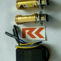 LAMPU LED MOTOR SUPRA X 125 (H6 LED + C acc / aksesoris motor termurah