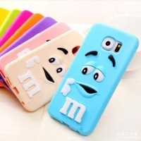 Harga samsung galaxy s7 edge m m chocolate rubber soft tpu case 3d cute | Pembandingharga.com