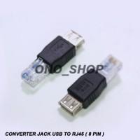 (Dijamin) Converter Jack USB To RJ45 ( 8 Pin )