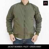 Jaket Motor Harian Pilot Bomber Hijau Army tahan angin air