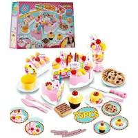 HARGA DISKON DIY FRUIT CAKE PINK BESAR 75 PCS - MAINAN KUE ULANG TAHUN