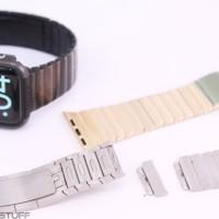 Apple Watch Link bracelet premium Quality / 2 pointer Black Silver